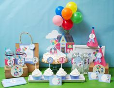 Custom UP Movie Inspired DIY Party Printables by MayDetails: Full Collection. $36.00, via Etsy.