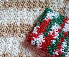 Happier Than A Pig In Mud: Crochet One-sie Two-sie Dishcloth