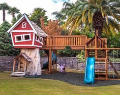 This tree house was built just for kids to play and be transported whereever their imagination can take them.