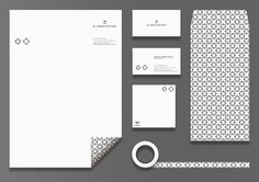 M Arquitectura branding corporate visual identity stationary packaging business card letterhead enveloppe tape pattern minimal graphic design