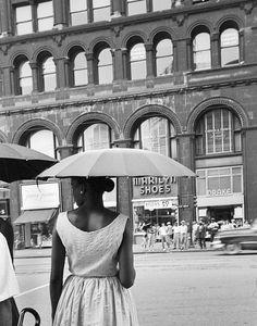 Woman with Umbrella, Bill Rauhauser (c.1955)