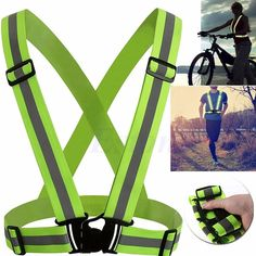 Objective 1 Pcs Unisex Outdoor Cycling Safety Vest Bike Ribbon Bicycle Light Reflecing Elastic Harness For Night Riding Running Jogging Bicycle Accessories Cycling