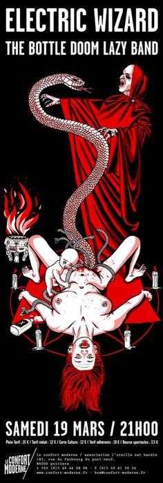 Der Kommissar Rock Posters, Music Posters, Concert Posters, Stoner Rock, Stoner Art, Black Metal, Crust Punk, Stone World, Psychedelic Music