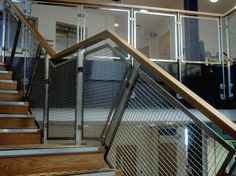 Aston Joint Services - Internal Metal Mesh balustrade infill panel - Product: Concord S428 #architecture #interiordesign #stairs #staircase #balustrade #wiremesh #metalmesh