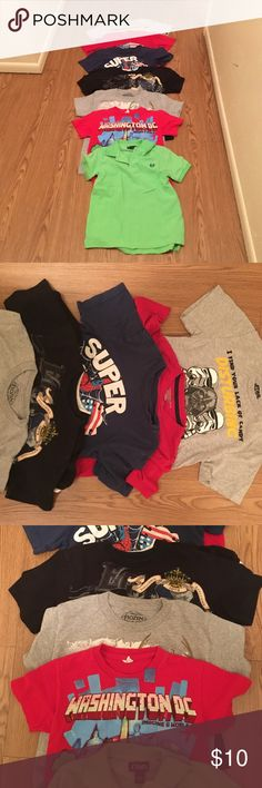 8 boy's shirts size 5/6 Great used condition bundle of boy's shirts ( Star Wars, super man, old navy, Frozen, mine craft, echo, polo) Shirts & Tops