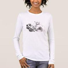 Original Painting Chinese Zodiac Monkey Woman Long Sleeve T-Shirt