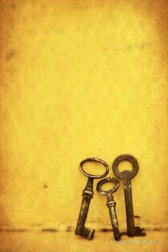 Keys with a yellow back drop! Awesome.