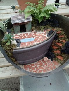 Miniature Garden with a pool