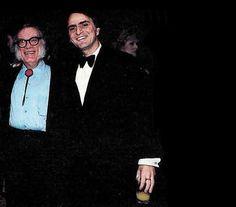 Asimov and Sagan at a banquet celebrating the 20th anniversary of Mariner 2, December 14, 1982