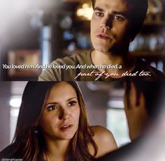 BECAUSE SHE LOVES DAMON. WHAT NOW STELENA FANS!?😂😂😂😂