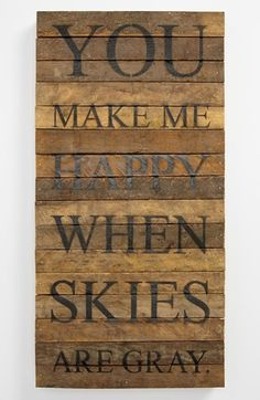 Got this for Colt's room :) Second Nature By Hand 'You Make Me Happy' Wood Wall Plaque available at #Nordstrom