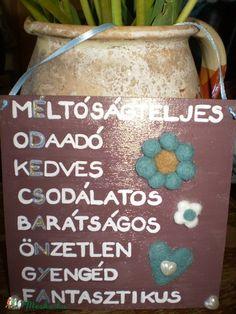 Meska - Anyák napi ajándék tábla - édesanya KyBarbi kézművestől