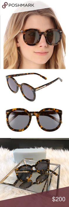 "Karen Walker Super Duper Strength Sunglasses😎 Authentic Karen Walker ""Super Duper Strength"" sunglasses 😎 Super popular, as seen on every fashion blogger! Like new condition! Comes with original case and dust cloth.                        •n o  t r a d e s• •s m o k e  f r e e / p e t  f r e e  h o m e•   •s a m e / n e x t  d a y  s h i p p i n g• Karen Walker Accessories Sunglasses"