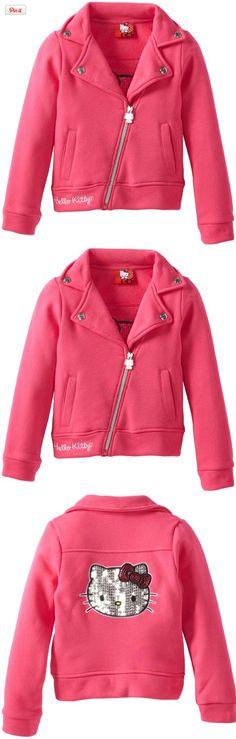 Hello Kitty Girls Motorcycle Jacket In Fleece