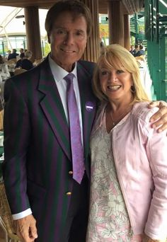 With Elaine Page yesterday at Wimbledon