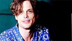 Matthew Gray Gubler is perfect ♥ I'd do anything to get to hear that laugh in person!! I wish I could be the one that makes him smile and laugh like that....GAWD he's perfect!!! ❤️
