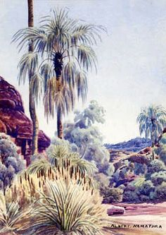 Discover the value of your art. Our database has art auction market prices for Albert Namatjira, Australia (Aboriginal) and other Australian and New Zealand artists covering the last 40 years sales. Australian Painting, Australian Artists, Landscape Art, Landscape Paintings, Aboriginal Artists, Indigenous Art, Art Auction, Watercolour Painting, Les Oeuvres