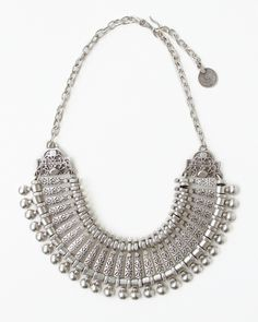 17ae2d0a991d0 Pewter Collar Necklace. Ethnic Jewelry
