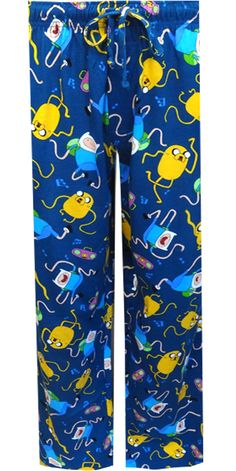 Adventure Time Jake and Finn Lounge Pants Are you ready for adventure in the Land of Ooo? These lounge pants showcase Jake the ...