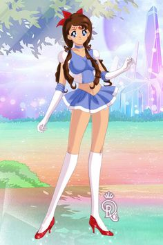 Dorothy Gale as a Sailor Senshi (Sailor Oz) - made by Shannon Stickel at doll divine