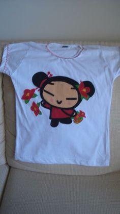 Camiseta Babylook com Boneca PUCCA