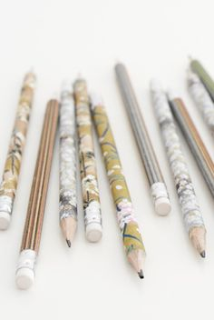 diy pencils - georgica pond