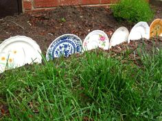 shabby chic gardens | My Sparrows Nest: Shabby Chic Garden  Mark each wonderful herb with a plate.