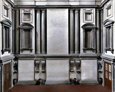 Biblioteca Laurenziana II, il Ricetto michelangiolesco, Firenze, 2009   photo © Massimo Listri