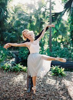 Ballerina bride | Melanie Gabrielle Photography | see more on: http://burnettsboards.com/2014/05/enchanting-ballerina-themed-wedding/ #ballerina #wedding