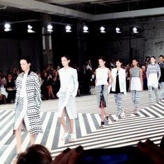 On the catwalk at Edun Spring-Summer 2014 Fashion Show #NYFW #RTW #SS14 #video #Edun #LVMH via kimchiispice