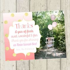 First birthday matching thank you card the big one diy printable pink ombre thank you card first birthday thank you card photo thank you card pink and gold thank you card first birthday thank you girl altavistaventures Image collections