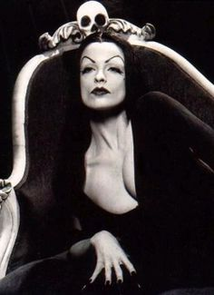 Vampira- No, I believe this is Lisa Marie from Tim Burton's Ed Wood. Still a stunning portrayal and portrait.