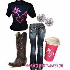 A fashion look from November 2014 featuring blue ripped jeans and utility boots. Browse and shop related looks. Country Style Outfits, Country Wear, Country Girl Style, Country Fashion, My Style, Country Life, Cowgirl Outfits, Western Outfits, Western Wear