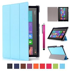 Surface 3 Case, JCmax Premium Polyurethane Leather Folio Stand Flip Case Cover with Stylus Holder for Microsoft Surface 3 10.8-Inch Windows Tablet (Not Fit Surface Pro 3 12-Inch) -Blue JCMAX http://www.amazon.com/dp/B016AGB3QM/ref=cm_sw_r_pi_dp_y84Iwb160YZB2