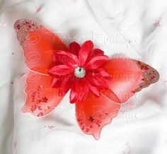 Red Baby Butterfly Wings  Infant Fairy Wings for by TiarasTutus, $13.00