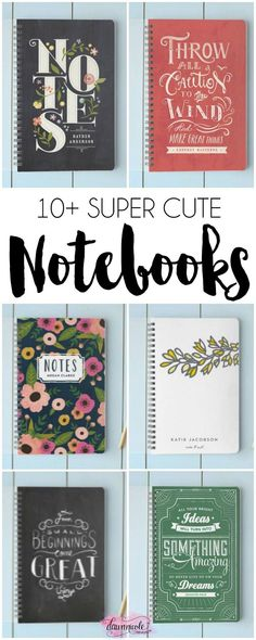 Where are my fellow notebook addicts?! 10+ Fun Notebooks to Love!! | http://dawnnicoledesigns.com