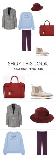 """денди"" by sorokina-d on Polyvore featuring Yves Saint Laurent, Nine West, Alexander Wang, Saks Fifth Avenue, Lingua Franca and PS Paul Smith"