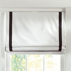 Suite Ribbon Cordless Roman Shade With Blackout Lining... comes in turquoise stripe