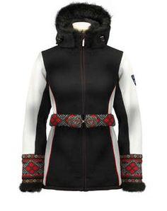 Dale of Norway Woman`s Nordic Weatherproof Jacket Vinje style 8188 in BLACK Folk Fashion, High Fashion, Winter Fashion, Womens Fashion, Black Sweaters, Sweaters For Women, Jackets For Women, Clothes For Women, Merino Wool Sweater