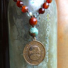 Vintage St. Benedict peace inspirational by forgivingworks on Etsy, $155.00