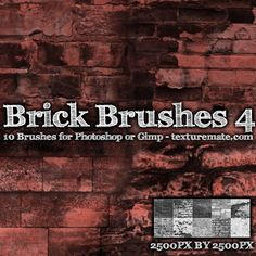 Brick 4 Brush Pack for Photoshop or Gimp | texturemate.com - Free Textures, Brushes, Patterns, and Design Articles!