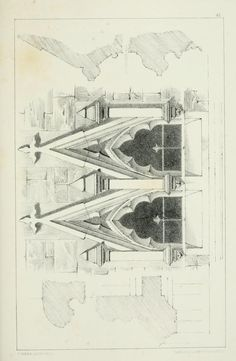Designs for Gothic ornaments & furniture, after...