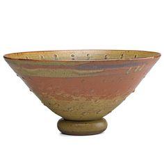 Val Cushing Large Glazed Stoneware Bowl
