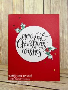 Click here to see how to double the cards in the Watercolor Christmas Kit (this is one of the intended kit cards)…#stampyourartout - Stampin' Up!®️️ - Stamp Your Art Out! www.stampyourartout.com