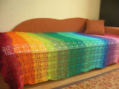 Afghans & Throw Blankets Large Hand-croched Fringe Afghan Pure And Mild Flavor