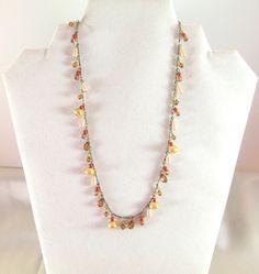 Vintage Beaded Charm Necklace ondertekend NY door HaileyLeeTreasures