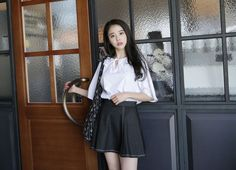 Dress Up Confidence! 66girls.us Paneled Contrast Stitch Skirt (DHZN) #66girls #kstyle #kfashion #koreanfashion #girlsfashion #teenagegirls #younggirlsfashion #fashionablegirls #dailyoutfit #trendylook #globalshopping