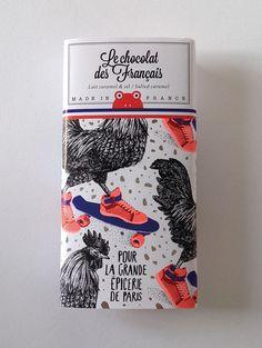 Le Chocolat des Français on Packaging Design Served Graphic Design Fonts, Design Poster, Art Design, Label Design, Branding Design, Package Design, Branding And Packaging, Design Packaging, Silk Screen Printing