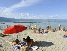 Nouvelle plage d'Estavayer-le-Lac, lac de Neuchâtel
