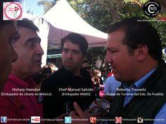 Con Hicham Hamdan (Embajador de Líbano en México) y Roberto Trauwitz Echeguren (Secretario de Turismo del Edo. de Puebla), en Sabor Es Morelos!!! buena vibra!!! #chefcms #saboresmorelos #sabores #embajador #Líbano #ANDO #turismo #Puebla